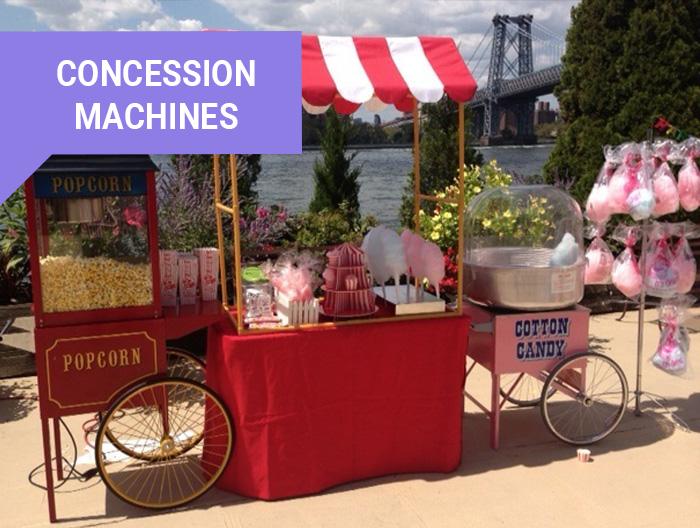 Concession Machines rental