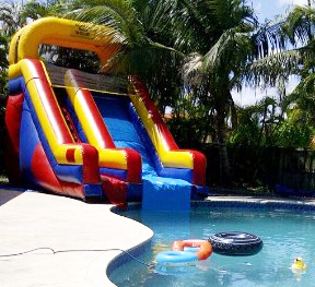Water Slide Into Pool 17 Ft 170