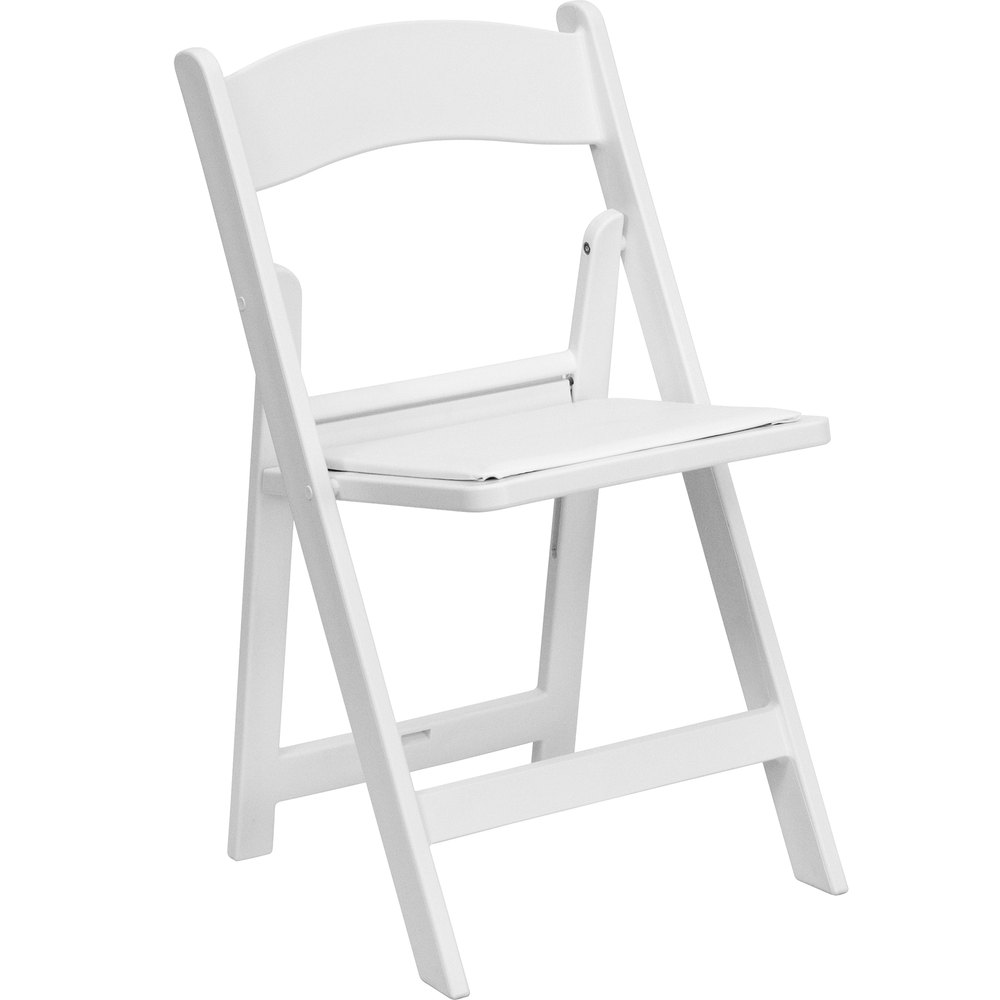 White Resin Plastic Folding Chairs iParty Rental Miami